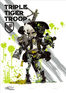 Triple Tiger Troop-Sergeant Girl & PV2 Bear