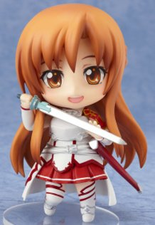 Nendoroids of Kirito and Asuna from Sword Art Online!