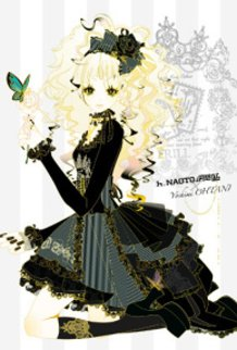 Blonde Haired Girl with Black FRILL