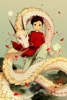 White Dragon and a Boy