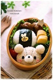 Teddy Bear and Small Bee Onigiri