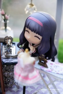 Tomoyo in her new Sewing Room