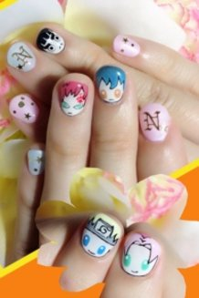 Cute Stylish Naruto Nails♪