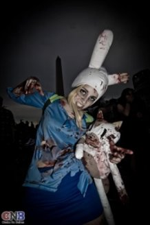 Zombie Adventure Time! Fionna & Cake Cosplay