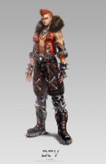 Avatar design  (heavy metal) male suit