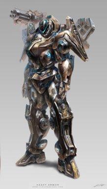 Avatar design (Heavy armor) male suit