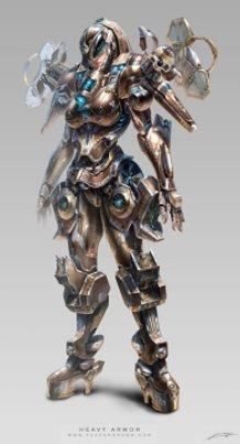 Avatar design (Heavy armor) female suit
