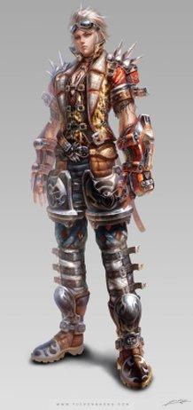 Avatar design (punk) male suit
