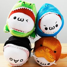 Oh No, I'm Being Eaten! Kaomojin in Peril Plushies