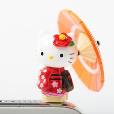 "Hello Kitty ""Welcome to Japan"" Plug Mascot (Parasol)"