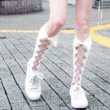 ERIMAKI SOX Lace-Up High Socks