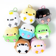 Square Birdies Plush Coin Pouches