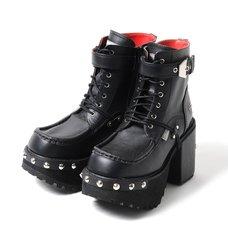 YOSUKE 2015SS Studded Cross Laced Boots