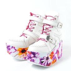 YOSUKE 2015SS Platform Double Belt High Cut Sneakers