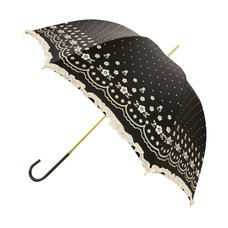 pink trick Polka Dot & Flower Lace Print Umbrella (Rain/UV Protective)