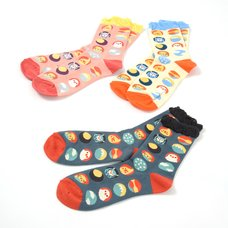 KOTORITACHI Little Bird Short Crew Socks