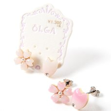 Osewaya Sakura Flower Earrings