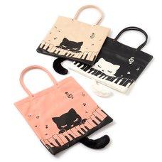 Piano & Pooh-chan Tote Bag