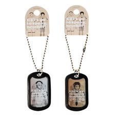 Space Brothers Clear Dog Tags