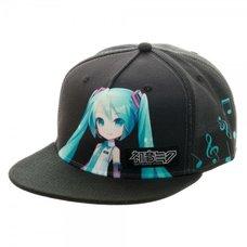 Hatsune Miku Black Snapback