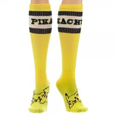 Pikachu Yellow Athletic Knee-High Socks | Pokémon