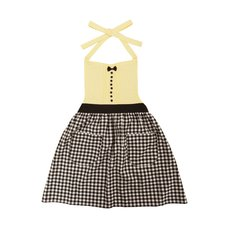 pink trick Gingham Check Apron