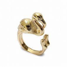 Lilou Animal Leg Flamingo Ring