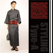 VICE FAIRY Black Stripe Luxury Black Yukata