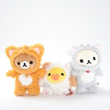 Nonbiri Neko Rilakkuma Dangling Plush Collection