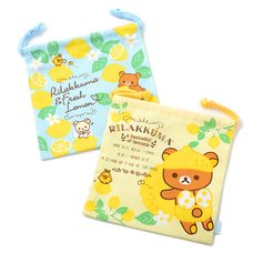 Rilakkuma A Basketful of Lemons Drawstring Pouches