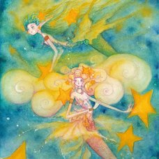 "Sakura Exhibition: Ryu Takeuchi ""Mermaid Carrying the Star"" Poster"