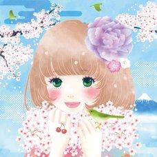 "Sakura Exhibition: Miho Ishii ""Sakura Fluffy Scarf"" Poster"