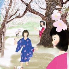 "Sakura Exhibition: Minao ""Zashiki-Warashi Ghost of Children / Spring"" Poster"