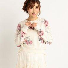 LIZ LISA Floral Angora Blend Sweater