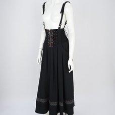 Rozen Kavalier Embroidered Rose Suspender Skirt