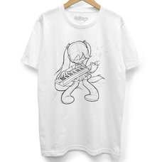 Hatsune Miku First Sound from the Future Keytar White T-Shirt