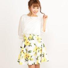 LIZ LISA Vivid Flower Skirt