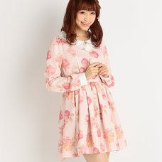 LIZ LISA Apple & Floral Print Dress (Limited Edition)