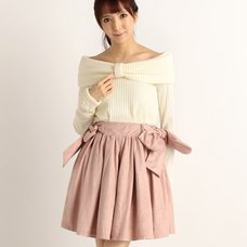 LIZ LISA Big Ribbon Ribbed Knit Dress