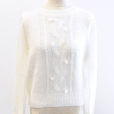 LIZ LISA Pearl Tulle Knit Top