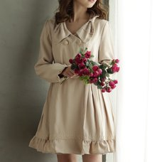 LIZ LISA Ribbon Collar Trench Coat