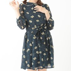 earth music&ecology Dot & Floral Print Dress