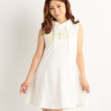 LIZ LISA NJOY Embroidered A-Line Hooded Dress