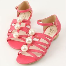Honey Salon Big Pearl Sandals (Fuchsia Pink)