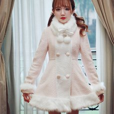 Bobon21 3-Way Faux Fur Collar Dolly Coat