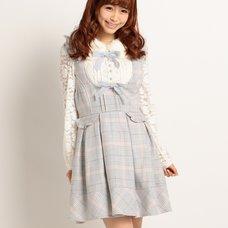 LIZ LISA Plaid Pinafore Dress