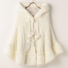 LIZ LISA Inner Plush Bustier Knit Poncho