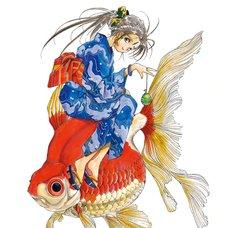 Kousuke Fujishima Signed Limited Edition Framed Oh My Goddess! Primagraphie Art Print: Summer Festival