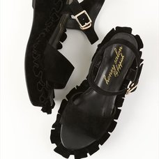 Honey Salon Frilly Sandals (Black)