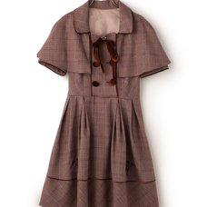 LIZ LISA Glen Plaid Dress w/ Cape